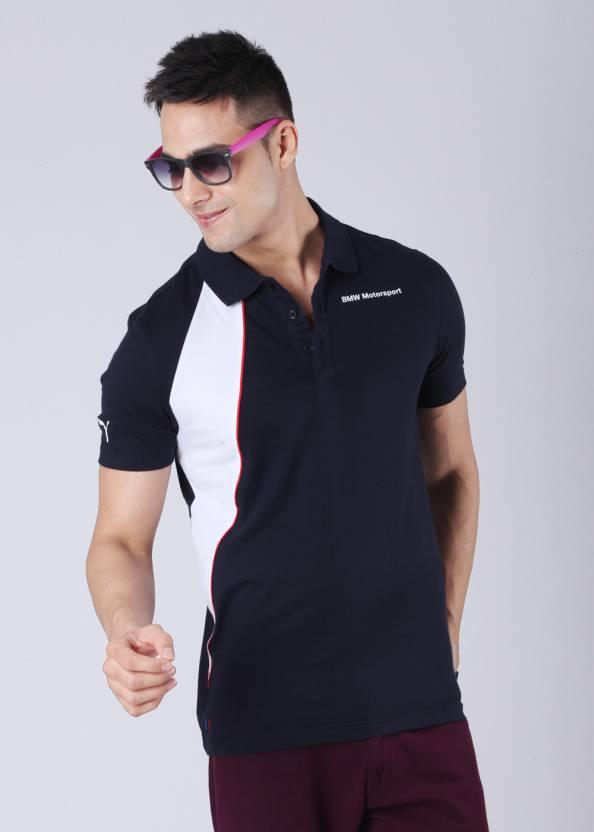 b9e0149e681 Puma Solid Men's Polo Neck Blue T-Shirt - Buy BMW Team Blue Puma Solid Men's  Polo Neck Blue T-Shirt Online at Best Prices in India | Flipkart.com