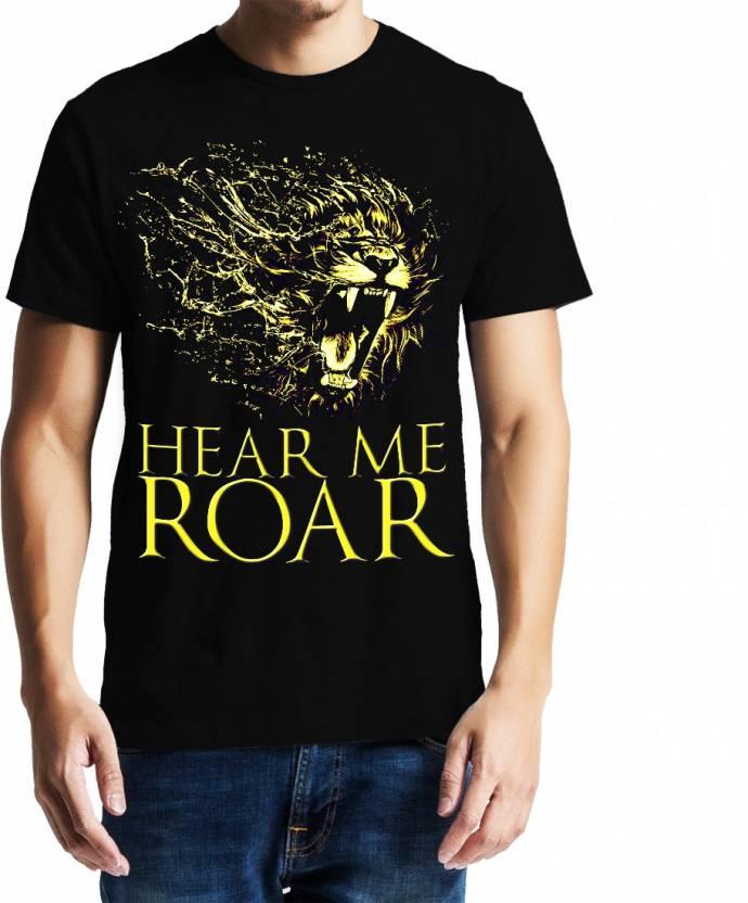 Baklol Printed Men's Round Neck Black T-Shirt