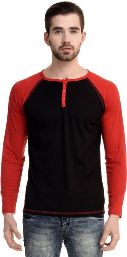 a898d45e2db6 Mi Moda Solid Men's Round Neck Black, Red T-Shirt - Buy Black Mi Moda Solid  Men's Round Neck Black, Red T-Shirt Online at Best Prices in India |  Flipkart. ...