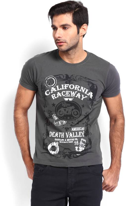 a8ed1d757ae3 Roadster Graphic Print Men's Round Neck Grey T-Shirt - Buy CHARCOAL GREY Roadster  Graphic Print Men's Round Neck Grey T-Shirt Online at Best Prices in India  ...