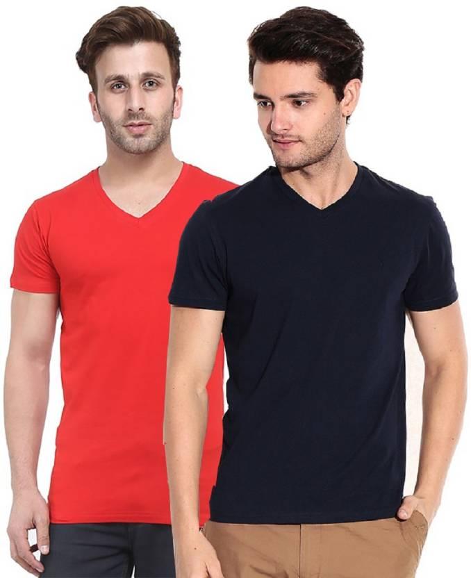 6c0518158 Tripr Solid Men s V-neck Multicolor