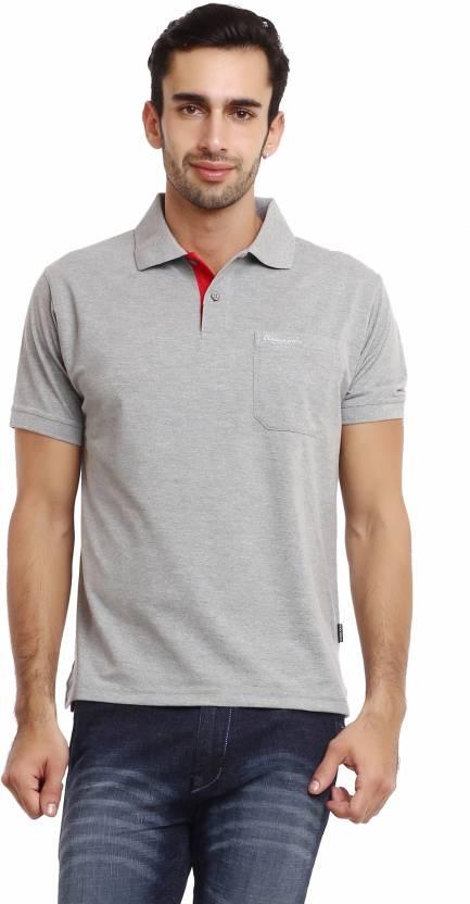 Silver Solid Grey Neck Classic Polo Buy Shirt Polo Men's T Grey ZwT77zxfqB