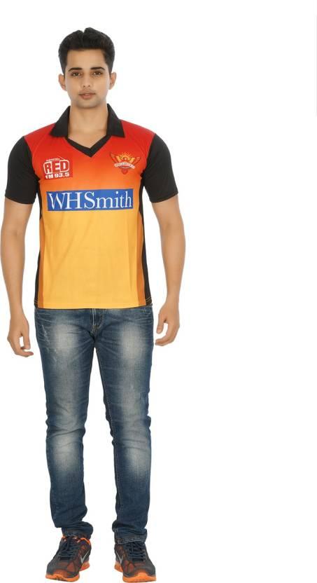 Attitude Printed Men's Polo Neck Orange T-Shirt