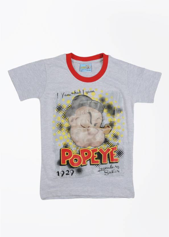 c713a433d Popeye Boys Printed Cotton T Shirt Price in India - Buy Popeye Boys ...