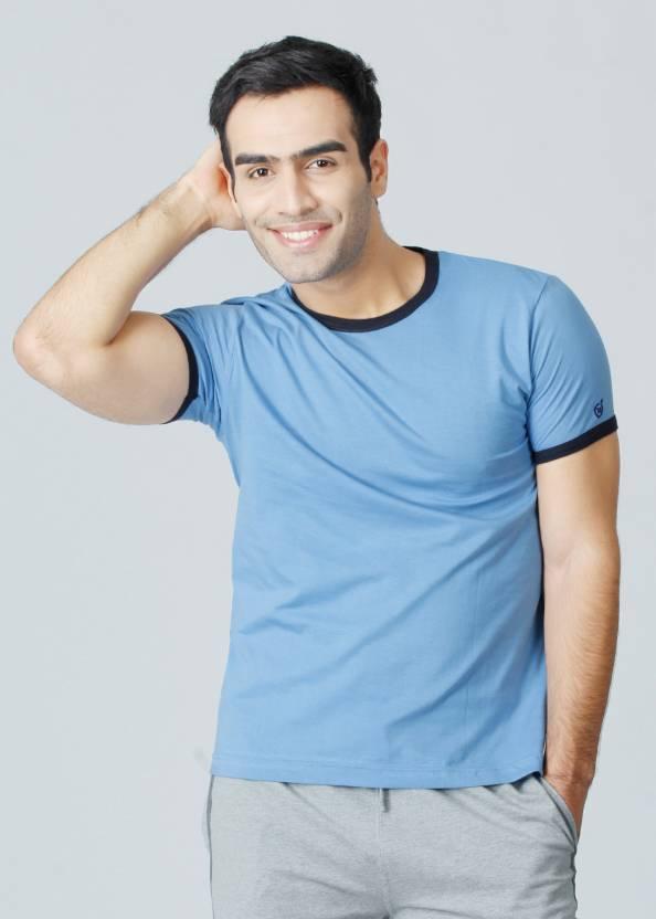 3b7372989e7502 Macroman Solid Men's Round Neck Blue T-Shirt - Buy Assorted Macroman Solid  Men's Round Neck Blue T-Shirt Online at Best Prices in India | Flipkart.com