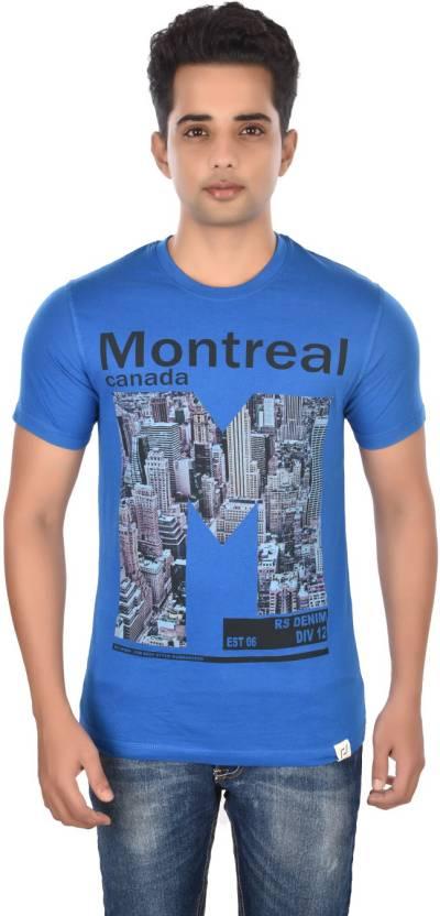 14367b5587d Rockstar Jeans Graphic Print Men s Round Neck Blue T-Shirt - Buy Ink Blue  Rockstar Jeans Graphic Print Men s Round Neck Blue T-Shirt Online at Best  Prices ...