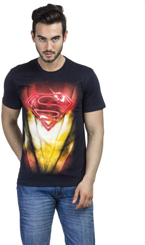 1eda9ee7f Superman Printed Men s Round Neck Blue T-Shirt - Buy Navy Superman Printed  Men s Round Neck Blue T-Shirt Online at Best Prices in India