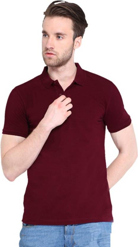 Concepts Solid Men s Polo Neck Maroon T-Shirt - Buy Maroon Concepts Solid Men s  Polo Neck Maroon T-Shirt Online at Best Prices in India  f8ec326aff01