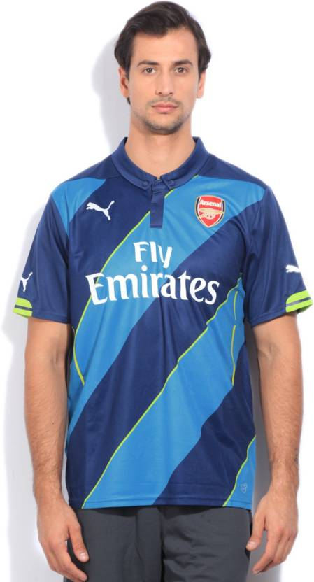 official photos 3cc84 a006b Puma Arsenal Printed Men's Polo Neck Blue T-Shirt