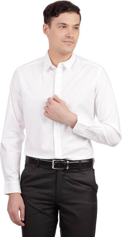 Esprit Solid Men's Round Neck White T-Shirt