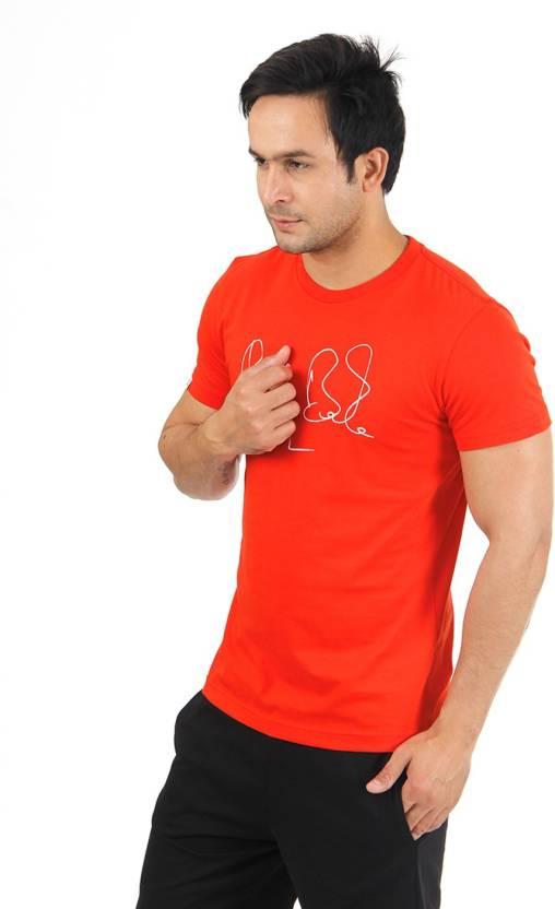 Puma Graphic Print Men's Round Neck Red T-Shirt