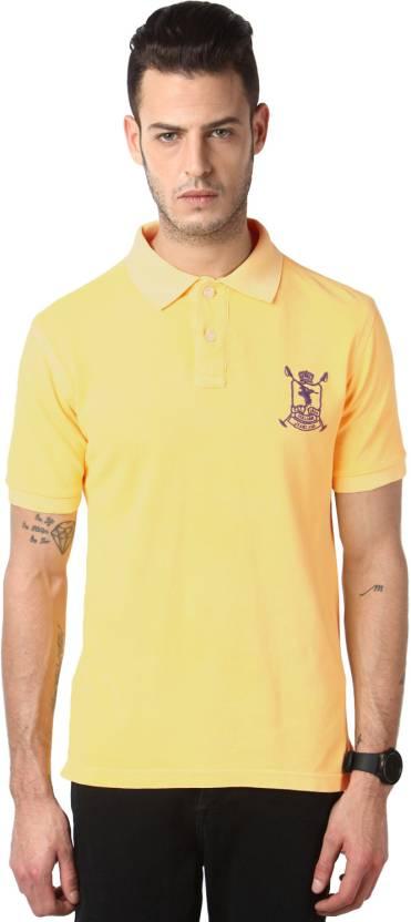 b79190a2 Cantabil Solid Men's Polo Neck Orange T-Shirt - Buy Orange Cantabil ...