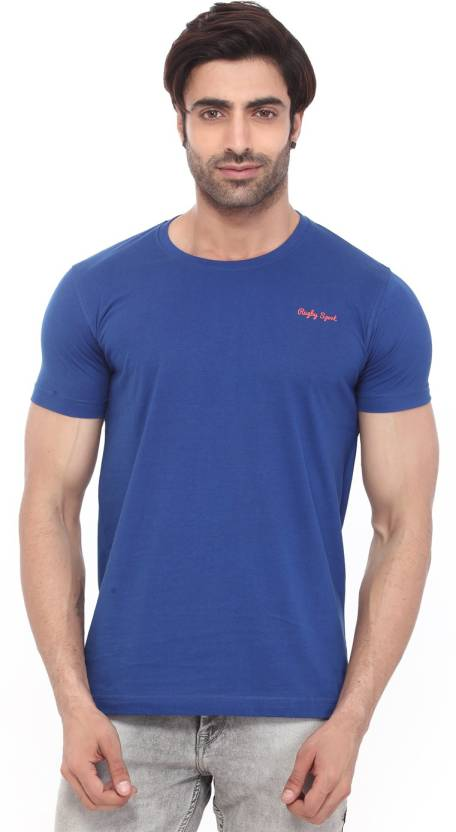 8ac5aff8f16f72 Rugby Solid Men's Round Neck Blue T-Shirt - Buy Egyplian Blue Rugby Solid  Men's Round Neck Blue T-Shirt Online at Best Prices in India | Flipkart.com