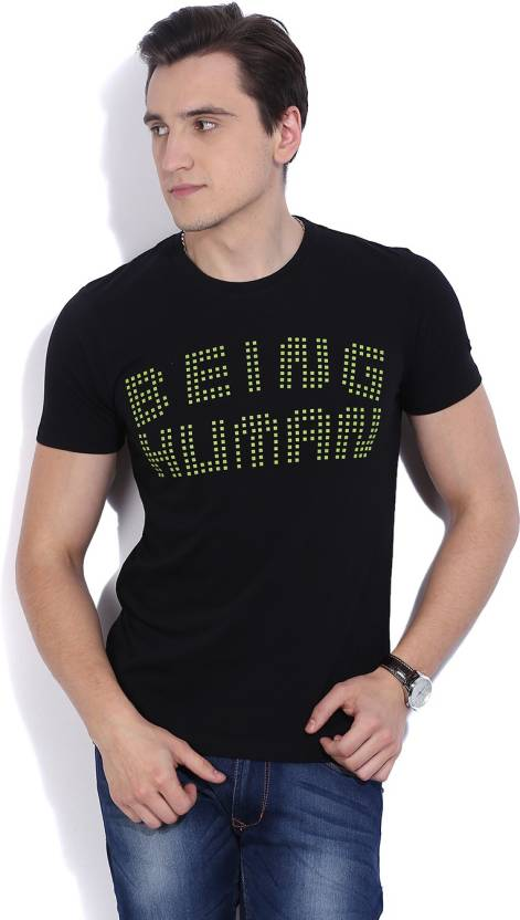 709a2e55a803c Being Human Applique Men s Round Neck Black T-Shirt - Buy BLACK Being Human  Applique Men s Round Neck Black T-Shirt Online at Best Prices in India ...