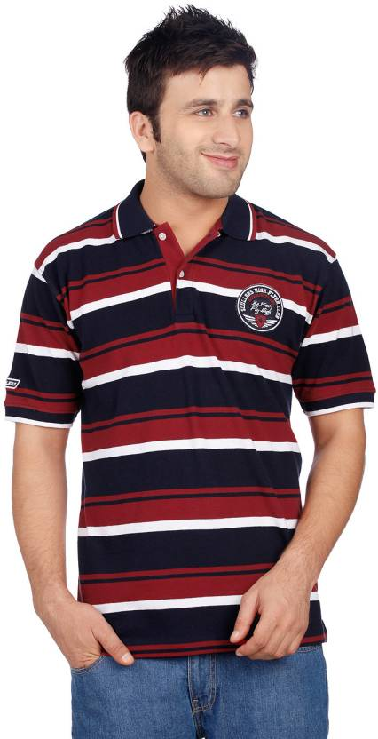 Scullers Striped Men s Polo Neck Blue 5ef951dff