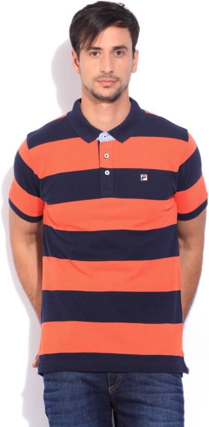 1d98c9125fa9 Fila Color block Men Polo Neck Dark Blue