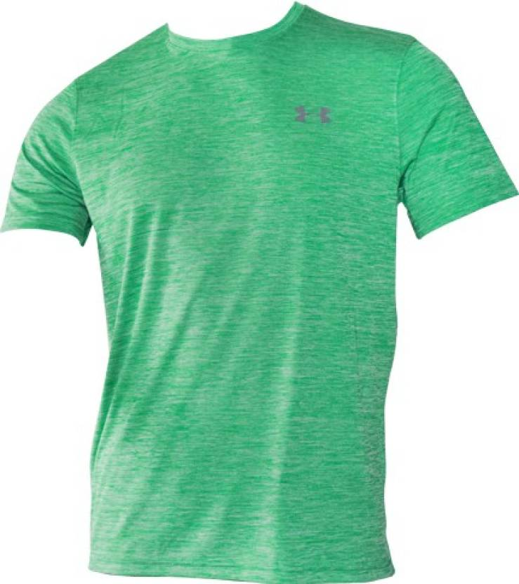 e0720d90f7 Under Armour Solid Men's Round Neck Green T-Shirt - Buy Green Under ...