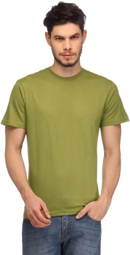 d7d4cf73ce2 Rico Sordi Solid Men s Round Neck Green T-Shirt - Buy Green Rico Sordi  Solid Men s Round Neck Green T-Shirt Online at Best Prices in India