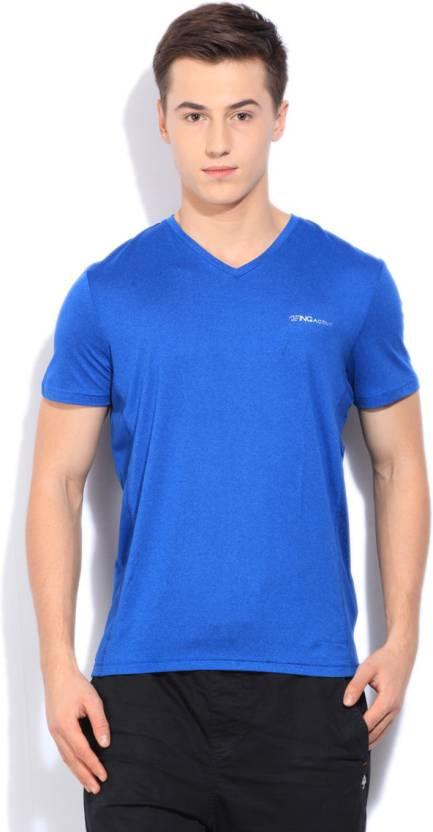 153c68947 Being Human Solid Men's V-neck Blue T-Shirt - Buy ROYAL BLU Being Human Solid  Men's V-neck Blue T-Shirt Online at Best Prices in India   Flipkart.com