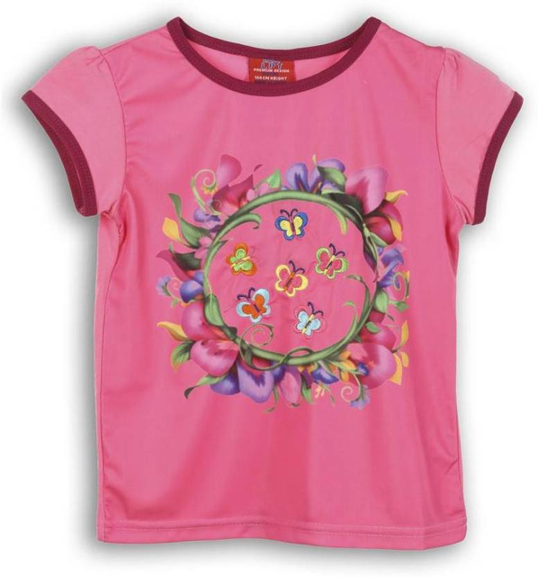 Lilliput Girls Printed T Shirt(Multicolor)