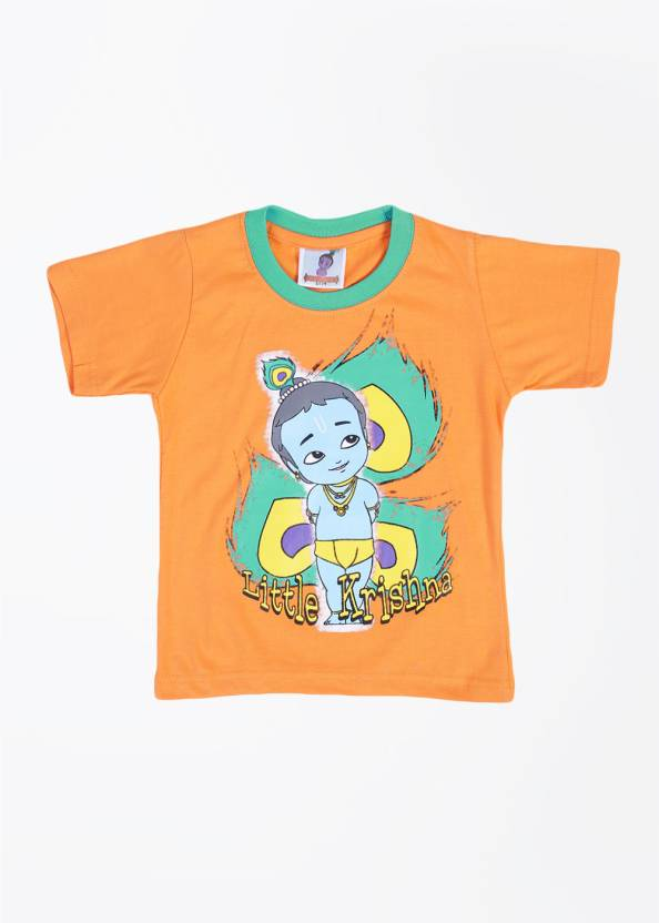 8deb1e75 Little Krishna Boys Printed T Shirt Price in India - Buy Little ...