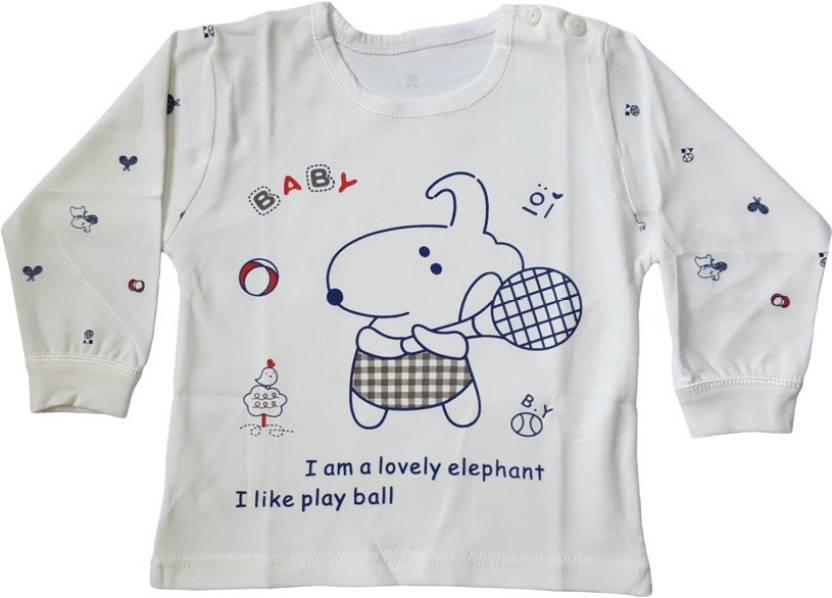 ca466ab93 Upside Down Boys   Girls Animal Print Cotton T Shirt Price in India ...