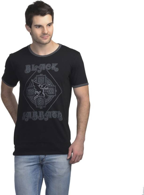 Black Sabbath Printed Mens Round Neck Black T Shirt Buy Black
