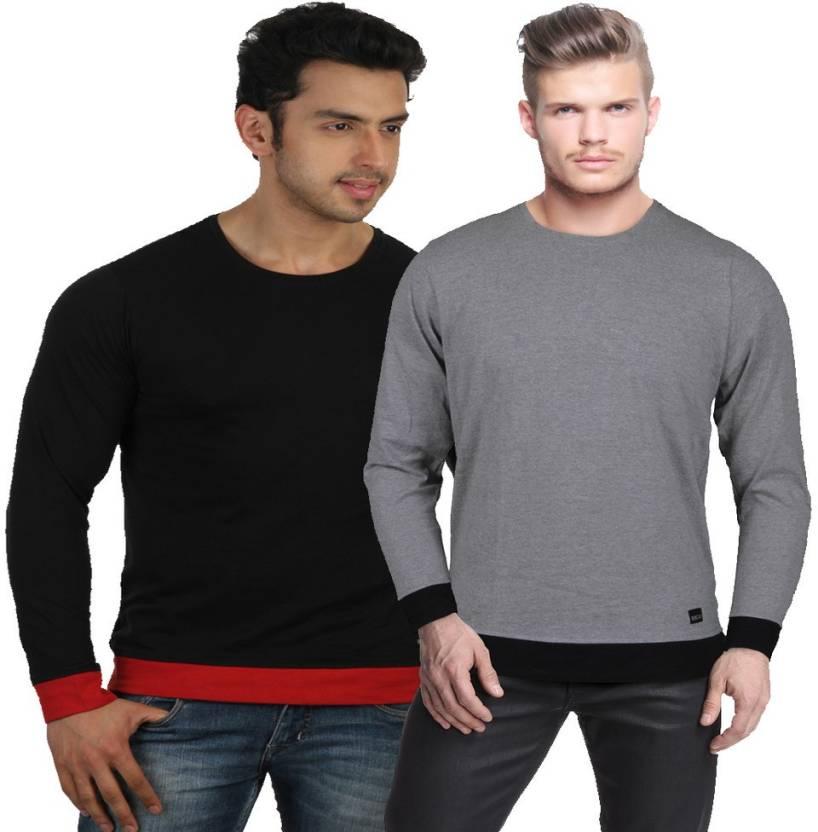 6ee814a1cca Rigo Solid Men s Round Neck Multicolor T-Shirt - Buy COMBO ...