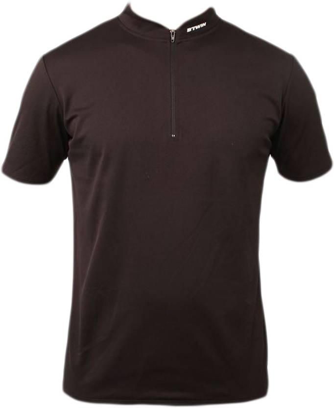 Decathlon - Btwin Solid Men s Turtle Neck Black T-Shirt - Buy Black  Decathlon - Btwin Solid Men s Turtle Neck Black T-Shirt Online at Best  Prices in India ... 4fcb87b43