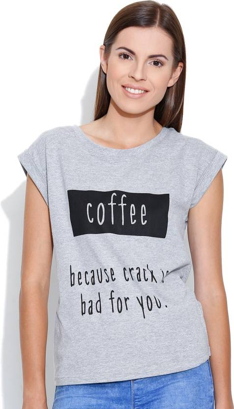 f8dc2d5c138 Silly People Graphic Print Women's Round Neck Grey T-Shirt - Buy Grey Silly  People Graphic Print Women's Round Neck Grey T-Shirt Online at Best Prices  in ...