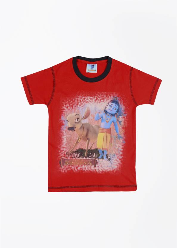 24951d2e Little Krishna Boys Printed Cotton T Shirt Price in India - Buy ...