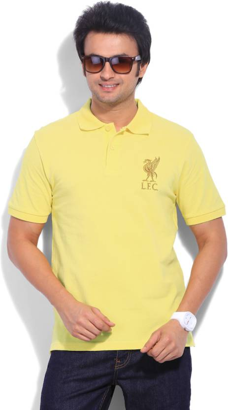 4c702a7b41 Liverpool Football Club Solid Men s Polo Neck Yellow T-Shirt - Buy Yellow  Liverpool Football Club Solid Men s Polo Neck Yellow T-Shirt Online at Best  Prices ...