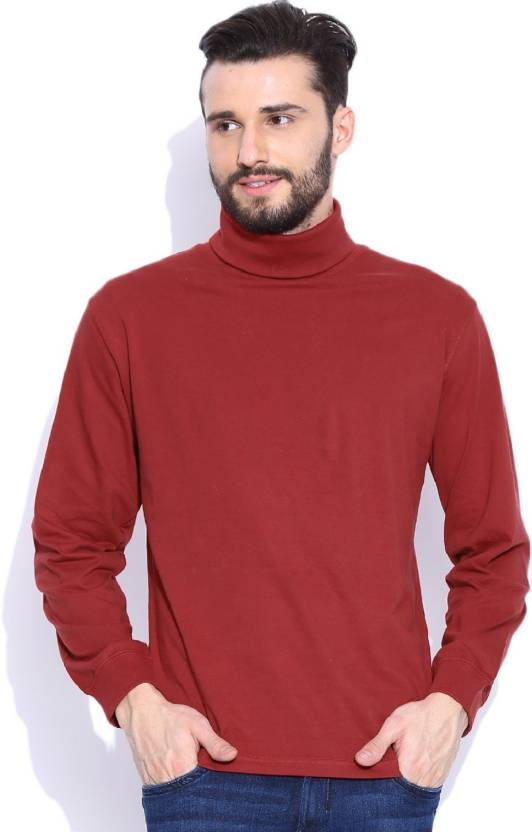 0b4a141a23d Dream of Glory Inc. Solid Men s Turtle Neck Maroon T-Shirt - Buy Cherry  Dream of Glory Inc. Solid Men s Turtle Neck Maroon T-Shirt Online at Best  Prices in ...