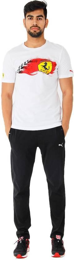 Puma Graphic Print Men's Round Neck White T-Shirt
