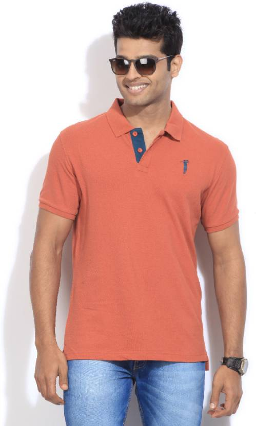 abae26a3 Bossini Solid Men's Polo Neck Orange T-Shirt - Buy BROWN Bossini Solid Men's  Polo Neck Orange T-Shirt Online at Best Prices in India | Flipkart.com
