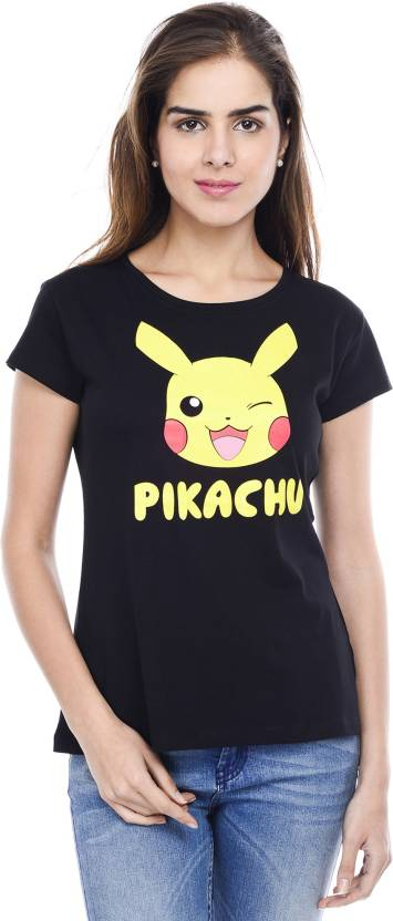 Pokemon Geometric Print Women s Round Neck Black T-Shirt - Buy BLACK  Pokemon Geometric Print Women s Round Neck Black T-Shirt Online at Best  Prices in India ... c2a5b652a5