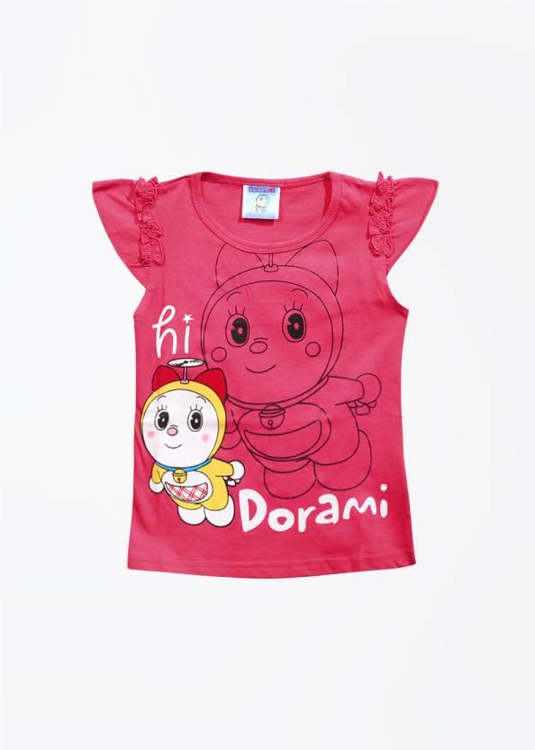 545ef719 Doraemon Girls Printed T Shirt Price in India - Buy Doraemon Girls ...