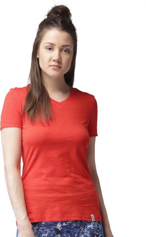 26a792d605 2GO Solid Women V-neck Red T-Shirt - Buy 2GO Solid Women V-neck Red T-Shirt  Online at Best Prices in India | Flipkart.com