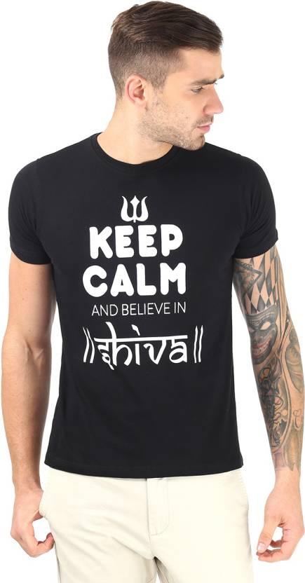 Vimanika Graphic Print Men's Round Neck Black T-Shirt