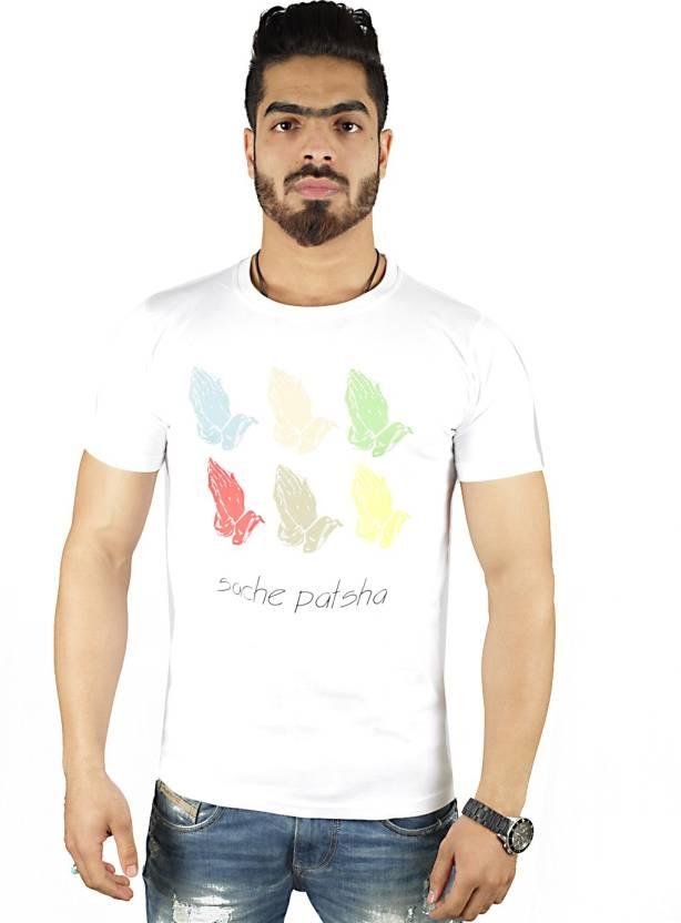Vimanika Graphic Print Men's Round Neck White T-Shirt