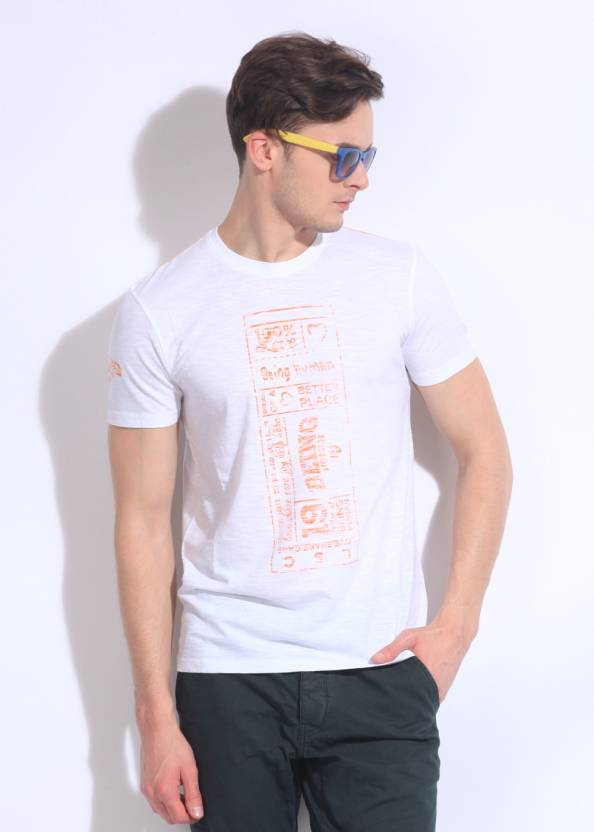 dcca3167d Being Human Clothing Printed Men s Round Neck White T-Shirt - Buy White  Being Human Clothing Printed Men s Round Neck White T-Shirt Online at Best  Prices in ...
