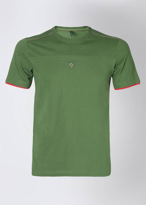 In Excess Solid Men's Round Neck Green T-Shirt
