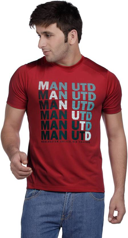 best website e75d2 7d5b7 Manchester United Printed Men's Round Neck Red T-Shirt