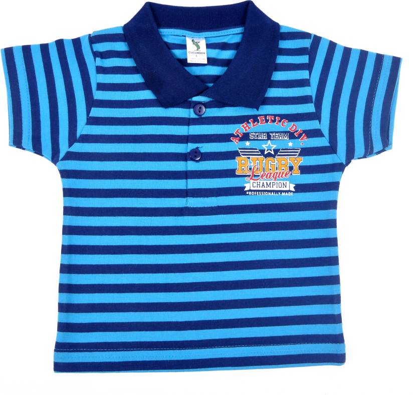1702ad42c5 Cucumber Boys Striped T Shirt Price in India - Buy Cucumber Boys ...
