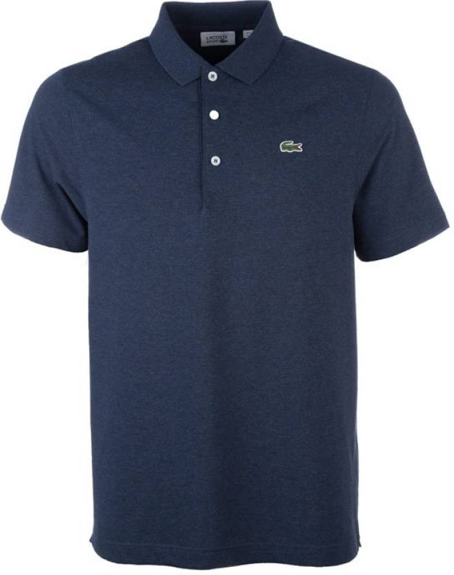 2880f9bb5ee6 Lacoste Solid Men s Round Neck Purple T-Shirt - Buy Purple Lacoste Solid  Men s Round Neck Purple T-Shirt Online at Best Prices in India