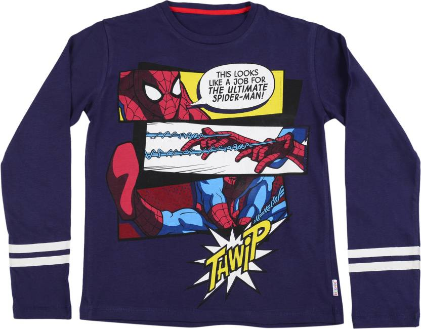 cf789618 Spiderman Boys Printed Cotton T Shirt Price in India - Buy Spiderman ...