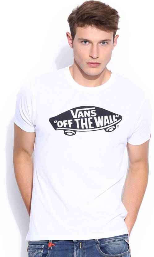 5b8e5656b7 Vans Printed Men s Round Neck White T-Shirt - Buy White Vans Printed Men s  Round Neck White T-Shirt Online at Best Prices in India