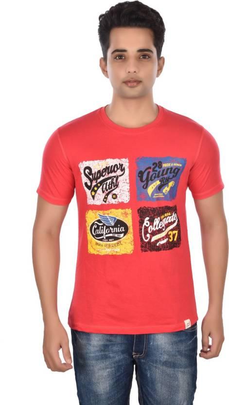 a655922d6ea Rockstar Jeans Graphic Print Men s Round Neck Red T-Shirt - Buy Ravishing  Red Rockstar Jeans Graphic Print Men s Round Neck Red T-Shirt Online at  Best ...