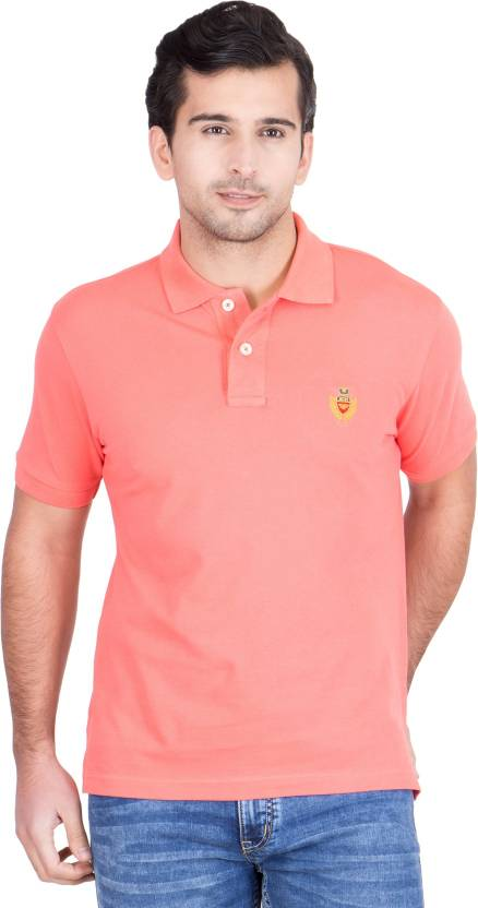 248845d48f1 Red Tape Solid Men s Polo Neck Pink T-Shirt - Buy Coral Red Tape Solid  Men s Polo Neck Pink T-Shirt Online at Best Prices in India