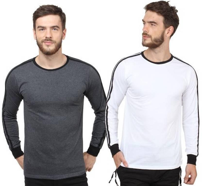 7fcb08673ff6 SayItLoud Solid Men's Round Neck Black, White T-Shirt - Buy Black ...